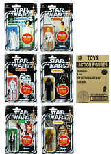 "STAR WARS THE RETRO COLLECTION WAVE 1 ""A NEW HOPE"" 6 FIGUREN IM CASE VON HASBRO"