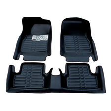 CFMBX1HD9220 Black Nylon Carpet Coverking Custom Fit Front and Rear Floor Mats for Select Honda Civic Models