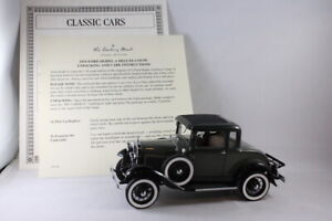 Danbury Mint 1931 Ford Model A Deluxe Coupe Kewanee Green 1/24 Scale Model Car