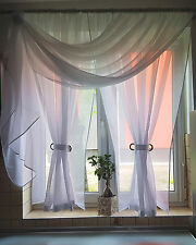 Ready made Voile Net curtains - Hanging Loop (Right) /Voiles/Firany/Firanki/new