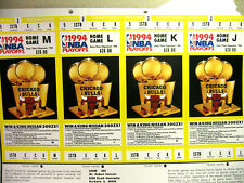 CHICAGO BULLS UNUSED PLAYOFF TICKETS--SHEET OF 4 DIFFERENT & CORRESPONDANCE