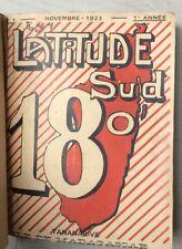 MADAGASCAR Tananarive LATITUDE SUD 18° 1923-24 revue poésie 12 num. RABEARIVELO