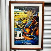 VTG Original 1997 Disney's Wild Animal Kingdom Promotional Poster Rare