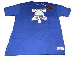 NBA Mitchell & Ness Philadelphia 76ers Sixers Hardwood Classic Shirt NWT
