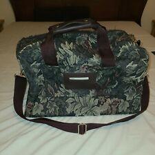 Pierre Cardin Overnight Carry On Under Seat Carpet duffel Bag multicolor foliage