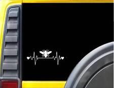 Bee Lifeline Heartbeat Honey Bee Window Decal Sticker *I840*