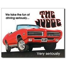 Sign - The Judge GTO Pontiac Novelty Auto Car Sign Man Cave Garage Shed Tool Roo