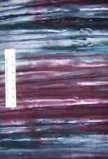 Bali Batik Fabric - Purple & Blue Ombre Stripe - Cotton YARD