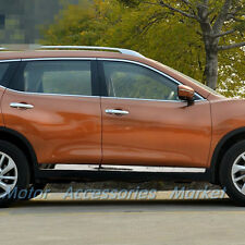 Chrome Stainless Steel Body Molding Door Trim For Nissan Rogue X-trail 2014-2016