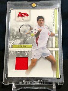 Novak Djokovic 2007 Ace Authentic Serbia Rookie Materials Worn Shirt Jersey RC