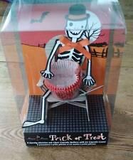 Meri Meri Trick or Treat 8 Skeleton Chair Holders + 24 Cupcake Liners NEW