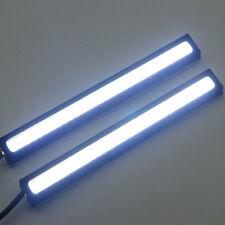 2Pcs Waterproof 12V LED COB Car DRL Driving Daytime Running Lamp Fog Lights Bar