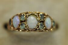 Antique 9ct Gold Victorian Opal & Chrysolite Peridot Ring Size L