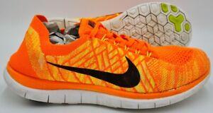 Nike Free 4.0 Flyknit Trainers 717075-800 Orange/White/Black UK10/US11/EU45
