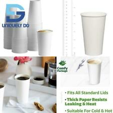 New Listing100 Pack 16 Oz White Paper Hot Cups Coffee Cups