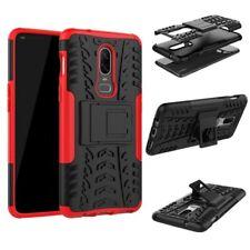 Für OnePlus 6 Six Hybrid Case 2teilig Outdoor Rot Etui Tasche Hülle Cover Schutz