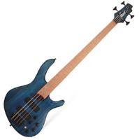 Cort B4 Plus Artisan RM 4-String Electric Bass passive Swamp Ash Blue GIgbag