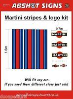 'MARTINI' STRIPES  & LOGOS GRAPHICS KIT / DECALS