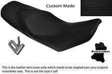 Negro Stitch Custom encaja Ktm 690 Duke 07-11 Doble Cuero Funda De Asiento