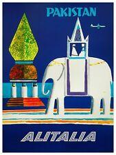 "Pakistan Art Vintage Travel Poster Print 12x16"" Rare Hot New XR288"