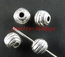 100pcs Tibetan Silver Ball Shaped Spacer Beads 6.5x6mm 8903