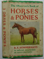 1966 The Observer's Book of Horses and Ponies no 9 by R S Summerhays 1856.266