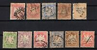 P135608/ BAYERN, OLD GERMANY – YEARS 1867 - 1878 USED CLASSIC LOT – CV 177 $