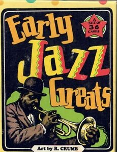 R. CRUMB EARLY JAZZ GREATS  COMPLETE SET OF 36  CARDS IN BOX  LATEST EDITION