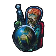 MARS ATTACKS World Domination Alien Craft Patch Freaky Sci-Fi Iron-On Applique