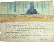 Dream Vision una pesadilla & Texto Por Albrecht Durer 1525 7x5 Pulgadas impresión