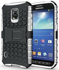 WHITE GRENADE RUGGED TPU SKIN HARD CASE COVER STAND FOR SAMSUNG GALAXY S5 ACTIVE