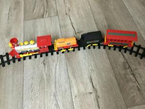 alte Dickie Spielzeug - Eisenbahn Classic Train  mit Schienensystem