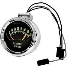 Console Tachometer Chrome 6200 Red Line Dynacorn 1966 Chevelle El Camino