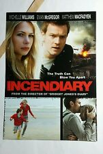 INCENDIARY WILLIAMS MCGREGOR PHOTO MOVIE 5x7 FLYER MINI POSTER (NOT A movie )