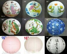 6 PC Paper Lantern Round Pattern Chinese Decoration Wedding Party Event Festival