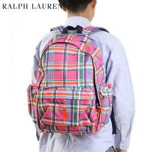Polo Ralph Lauren Big Pony Backpack Bag - Plaid Pink -