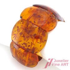 Breites Bernstein-Armband mit schönen Einschlüssen - B: 40 mm - L: 19 cm