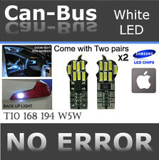 4pc T10 168 194 Samsung 14 LED Chips Canbus White Front Parking Light Bulbs A602