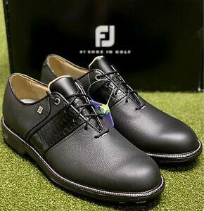 FootJoy DryJoys Premiere Series Packard Golf Shoes Black 9.5 Medium (D) #85612