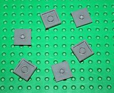 Lego 6 Plaques DkStone Plate 2x2 ref 87580 set 60035.9486.21118.21113.10937.7937
