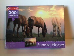 Sunrise Horses Puzzle Melissa & Doug Country Cowboy 300 Pieces
