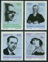 Argentina 1982 Writers Set #1334 - 1337 Mint Never Hinged Complete