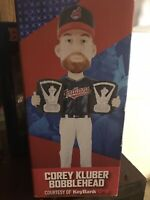 COREY KLUBER Cleveland Indians 2X CY YOUNG BOBBLEHEAD SGA MAY 28, 2018 NEW NIB