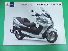 Scooter Suzuki Burgman 400 pubblicita brochure depliant prospect