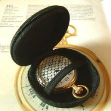 Pocket Watch Case Black Hard Shell Zip Up Travel Storage Case