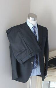 Brand New Modern Luxury Cantarelli Solid Dark Gray Wool Suit 46 EU / 36 US NWT