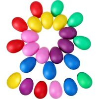 24 Pieces Egg Shaker Set Easter Eggs Maracas Eggs Musical Eggs Plastic Eggs G1P4