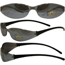 Pacific Coast SKINNY JOES SUNGLASSES BLACK FRAMES MIRROR LENS