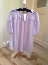 womens Sheer Lilac Blouse Size 22 £14.00
