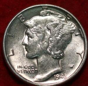 Uncirculated 1943  Philadelphia Mint Silver Mercury Dime